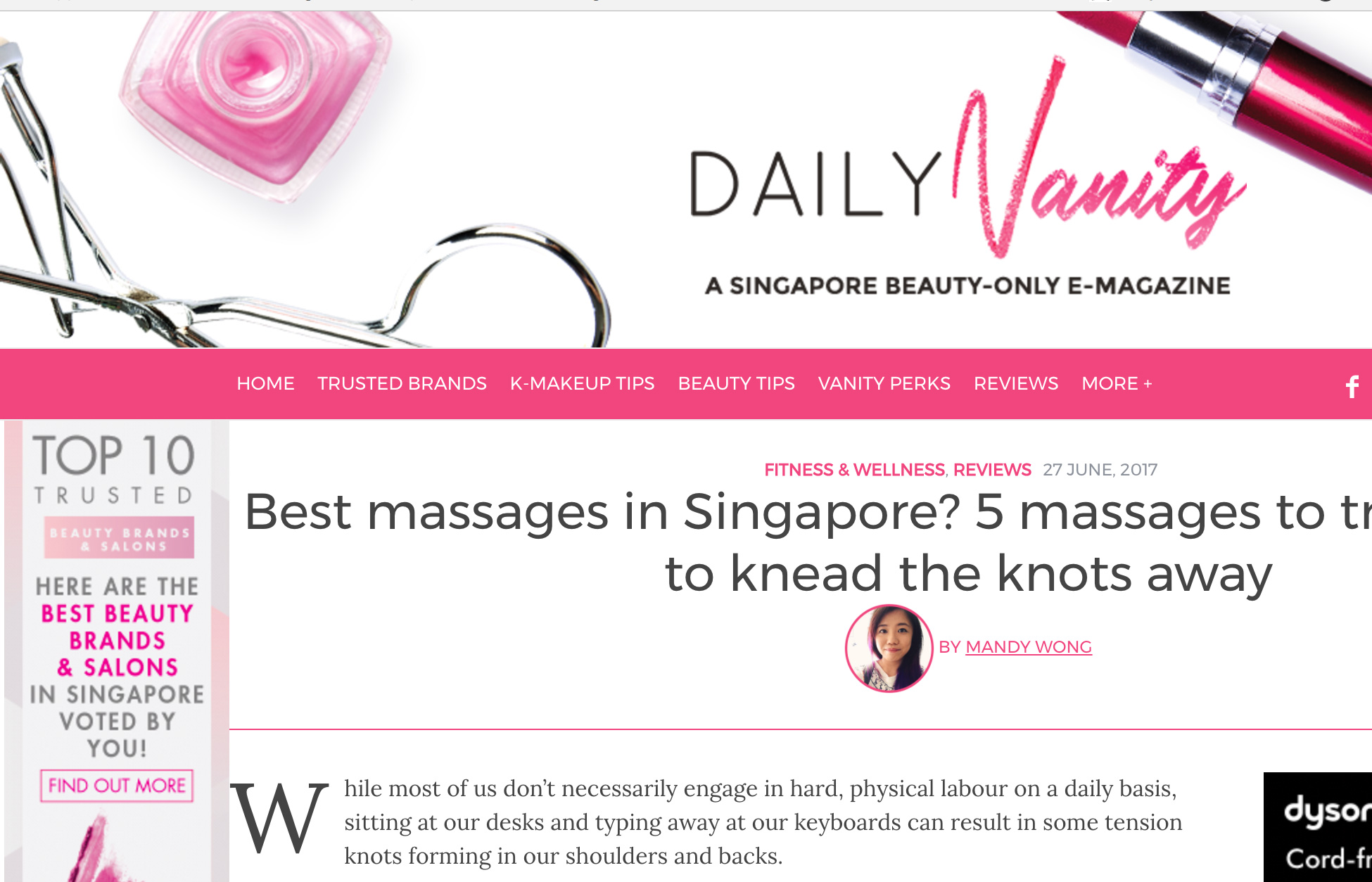 Best Massages in Singapore