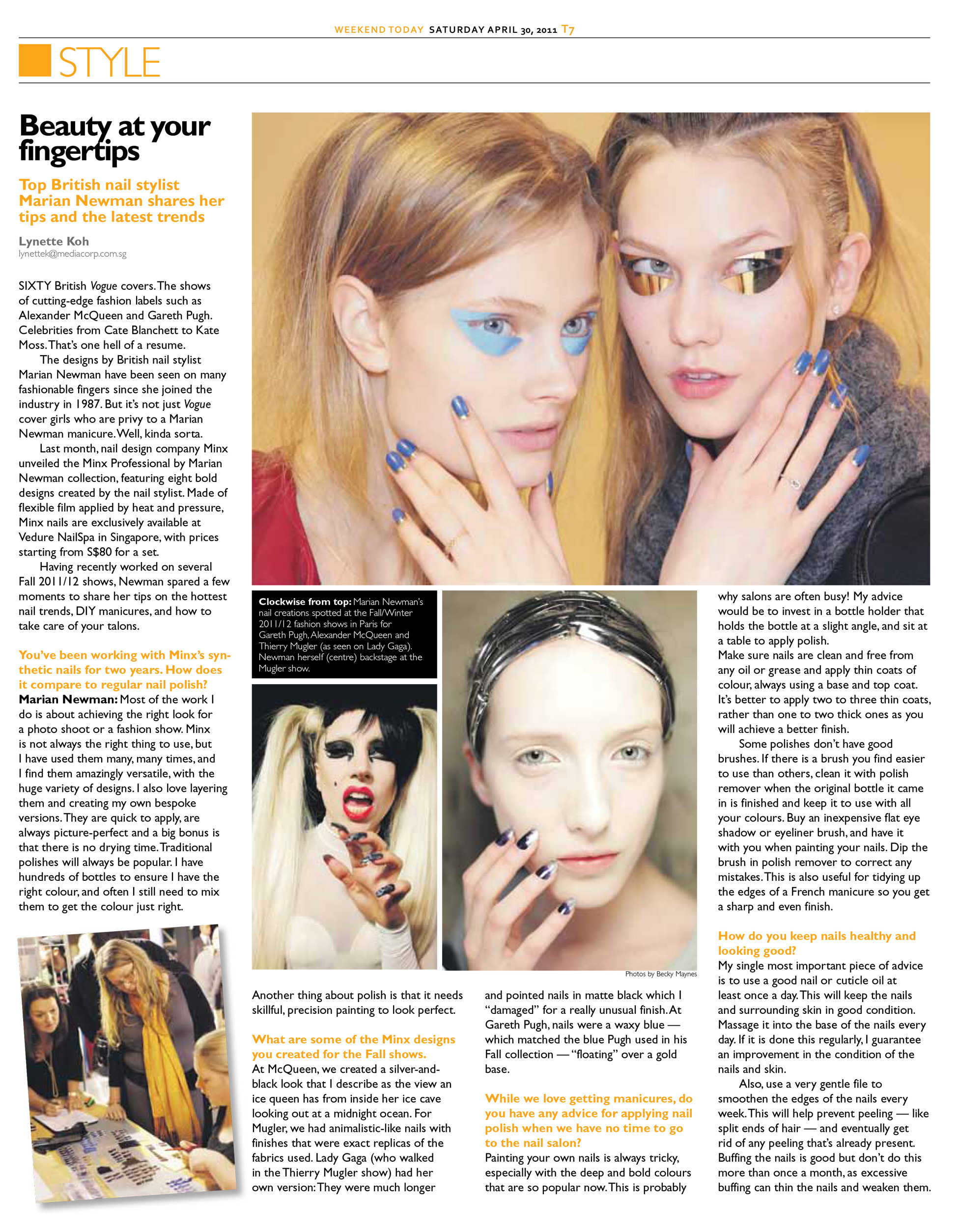 Beauty/Facial/Nail Article